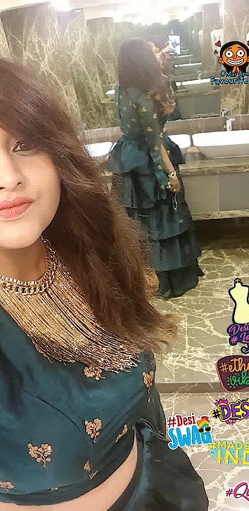 I'm falling in love with this outfit as well as neckpiece. This is one of the best outfit from @beyounique   #indian #indianwear #traditionallook #traditionalwear #bydimpeepalrecha #bydimpeebhandari #beYOUnique #beyou #beyourownkindofbeautiful #beyourself #beyourownqueen #indianblogger #indianbeauty  #queen #maiapnifavuritehoon #madeinindia #desi #desiswag #ethnicvibes #designerlove