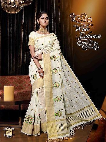 #new #catalog #Maahi in #designer #silk #WhiteSaree #saree in all  #brightcolors #traditionalwear #indiansilksarees #Creamsaree #yellowred #orangesaree #Weddingwear #bordersarees #Weddingwear to know more please whats app on +9198209361