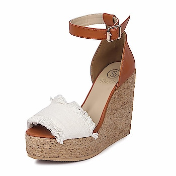"SkoSti Women's Stylish Ankle Brown Wedges Sandals Color : Brown Upper Pattern :Fabric single strapped ""Upper: PU Lining:PU Sole: neolite sheet sole Wedge:wooden"" Type : Wedges ::: Heel Height : 5.5 inch  To buy just click on below images or link:-  https://amzn.to/2ohT3g8  #Heels #Sandals #Blockheelsandals #Womensandal #Slippers"