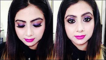 How To Get Glitter Party Makeup Look|Tutorial|COSMO GAL  #so-ro-po-so #videooftheday @cosmogal1f41ce17 #glamlook #partymakeup #glittereyes #glowingskin #glittermakeup #easytodo #makeupvideo #cosmogal1412 #pinklips #purpleeyeshadow #purplelove #soroposolook #youtubeindia #youtubechannel #cosmogal #youtubecreators