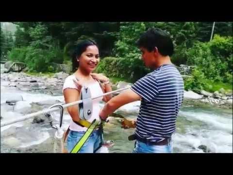 #adventure #fun #manali #hillstation #dare #wateradventure #river crossing #ropeway