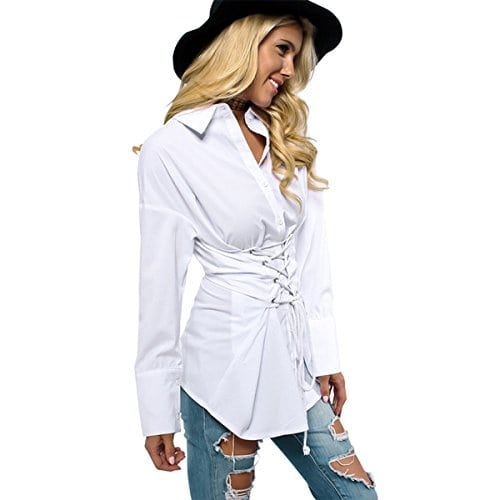 White Lace up Slim Fit Front V Neck Neck Top Website Link- https://amzn.to/2C0xSsX . . . . . #top #blouse #tshirt #purple #shopping #fashion #fashionblogger #womenswear #travelblogger #outfit #clothes #designer #trendy #beautiful#onlineshopping #mumbai #Indianfashionblogger #tops #fashionblog #streetstyle #girl #women #party #fashiondiaries #outfitideas #fashionweek #stylediaries #womensfashion #mumbai #wholesalefashion
