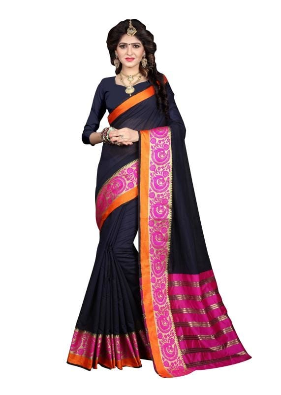 Drape This Navy Blue & Pink Coloured Saree From Viva N Diva And Look Pretty Like Never Before. This Beautiful Saree Features A Classy Weaving Border, Which Makes It A Smart Pick For Casual Occasions. Made From Khadi Silk, This 5.5 M Saree Is Light In Weight And Easy To Carry All Day Long. It Comes With A 0.80 M Blouse Piece.  ✔ #Viva N #Diva #Navy #Blue #And #Pink #Colored #Khadi #Silk #Saree ✔ Shop https://bit.ly/2MHoTSf ✔ Price: Rs. 1299/- ✔ Product Code: 1225-26757 ✔ Call or Whatsapp: 9582775828