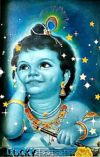 painting #mural #janmashtami #janmastami #krishna #krishna janammastme #painting #artwork #wallpainting #glitter #glitter #stars