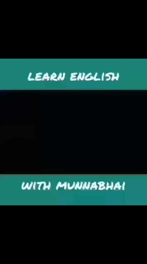 Let's learn English in Munnabhai style 😜😜😂😂 hahaha.  Follow @aamirmudassir for more.  Let's be friend on Instagram Snapchat Twitter Roposo @AamirMudassir Facebook @AamirVlogger #YouTube (The Liberal Indian)  #AamirMudassir #YouTuber #DelhiYoutuber #Viner #Entertainer #TheLiberalIndian #TLI #youtubeindia #ytcreatorsindia  #funnyvideos  #funnyvines  #memes  #memes😂 #memesdaily  #memeoftheday #haha #hahatv #hahatvchannel
