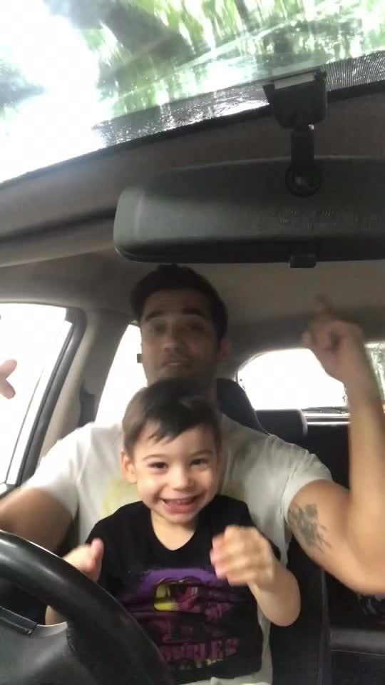 This is how we do it!! 😉 Unfiltered Raw & All natural.  #son #daddysboy #fatherson #dance #music #monsoon #car #weekend #positivevibes #love #joy #happieness #family