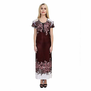SSIYAA Women's Designer Printed Nighty (Free Size) Package contents- 1 Night Dress:: Comfort Fit And Soft Fabric:: Size- Free size night wear to fit all sizes. Designer Nightdress for Women 100% Satin Wash Care Instructions: Normal wash or machine wash https://www.amazon.in/dp/B07FPG9ZW7  #nighty #nightsuit  #nightyforgirls