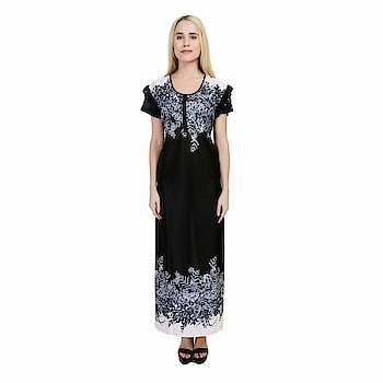 SSIYAA Women's Designer Printed Nighty (Free Size) Package contents- 1 Night Dress:: Comfort Fit And Soft Fabric:: Size- Free size night wear to fit all sizes. Designer Nightdress for Women 100% Satin Wash Care Instructions: Normal wash or machine wash https://www.amazon.in/dp/B07FPSBLYF #nighty #nightsuit  #nightyforgirls
