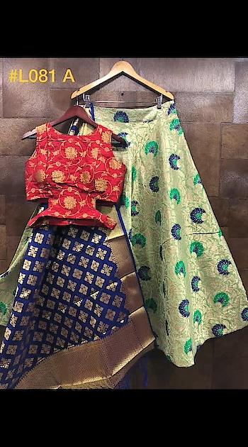 BANARASI BROCADE DESIGNER LEHENGA. . PRICE - 3900 /- RS. ( CASH ON DELIVERY AVAILABLE ) . FABRIC DETAILS :- . .  Lehenga : Banarasi Brocade  silk fabric lehengha with inner, cancan & canvas. Semi stitch. Size - upto 42, Length - 42.  Blouse:- BROCADE FABRIC .80.  Dupatta :-Pure Banarasi silk pattola style dupatta  2.50 . . TO ORDER DM OR WHATSAPP ON +91-8511343450. .  #traditionalwear  #lehengacholi  #embroidery  #taffetasilk  #banglorisilk  #fashion  #ethnic   #bridal  #closet  #ootd  #partywear  #ootd #fashion #trend-alert  #ethnicwear  #georgette  #indowestern  #chanderisilk  #tamannaahbhatia  #blackoutfit  #indianfashionblogger  #outfit  #plazosuits  #fashiondesigner  #boutique  #bollywoodfashion  #salwarkameez  #onlineshopping  #cashondelivery  #fashion #bridallehenga