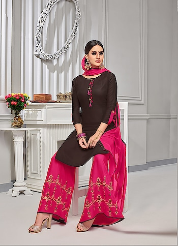 Stylish New Designer Palazzo Suits Collection...💞💞 Price:- 1450/- To Order Whats-app us (+91) 8097909000 To View More Visit 👉 https://bit.ly/2GcIIsM * * www.nallucollection.com * * #Embroideredsuitsonline #longsuits #Straightsuits #embroidred #PalazzoSuits #picoftheday #style #bestoftheday #love #designersuits #embroidredsuits #salwarsuits #beauty #onlineboutique #PalazzoSalwarSuits #womenclothing #clothingboutique #womenwithstyle #fashionstyle