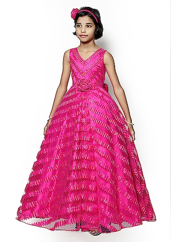 Revenge Fashion Wings Girl's Princess Birthday Wedding Party Wear Satin Sparkle Net Fabric Fluffy Ball Gown Fancy Dress Rs : 1500  if you any query you can call us : 7210838612  https://amzn.to/2PCJO61  #ballgown #kidsdresses #dress  #weddingdress  #partyweardress