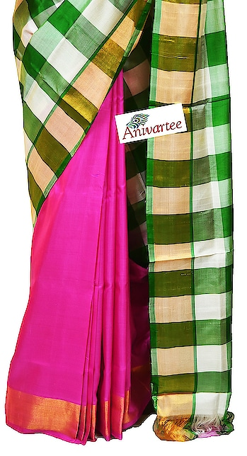 Uppada pure silk saree half & half style  in checks Code: UPD005054 Contact : +91 88612 55270 ,+91 87921 77606 Write to: anivartee108@gmail.com http://www.facebook.com/anivartee  Bangalore #uppadasilksarees #uppada #uppadasarees #saree #sari #ethnicwear #indianwear #handloomsilk #handloomsarees #handloomsilksarees #handwovensarees #handloom #roposo-fashion #telugu-roposo #roposo-telugu #roposo-tamil
