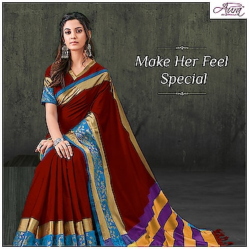 This teachers day lets appreciate all her efforts and unconditional love by gifting this marvelous saree that is definite to bring out her inner charm.   Gift her >>http://bit.ly/2MLgVYp  #saree #cottonsaree #sareelove #teachersday  #gifther