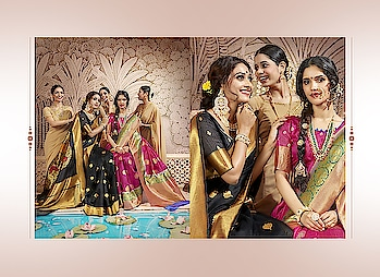 #new #catalog #soundarya in #designer #silk #saree in all #brightcolors #traditionalwear #indiansilksarees #Creamsaree #yellowred #orangesaree #Weddingwear #bordersarees #Weddingwear to know more please whats app on +919820936178