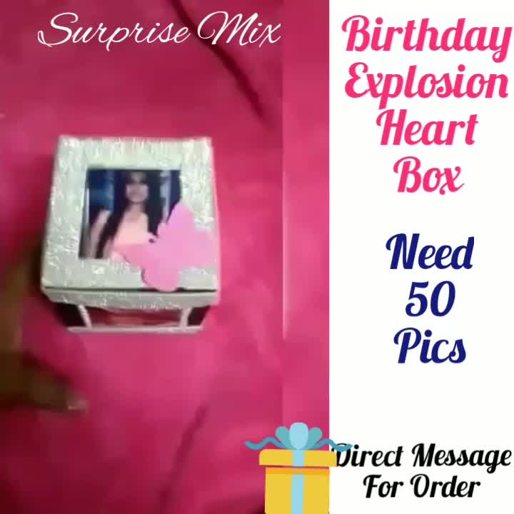 Surprise💖Explosion Box😘🎁 ❣️ Need  Pics Offer Price available for Limited Time ❣️❣️❣️❣️ Direct Message For Order @photo_art_store @gifts_shopping_time  @gift_online_store  @personalized_magazine Special🎁🎁🎁🎁🎁😘 😍SPECIAL PERSON😍 Keep Ordering😍😍 Birthday Couple Friendship Family Anniversary 😍😍 😍 DM for Order . #surprises#specialgift#happybirthday#birthdaygift #birthdaygifts#customisedgifts#uniquegifts #giftsforher#giftsforhim#giftsforcouple #personalisedcards#greetingcards#mosaicstories#colorful#memories#moments#friends#birthday#anniversary #weddings#gifts#customized#personalized  #photo_art_store #gifts_shopping_time  #gift_online_store  #personalized_magazine