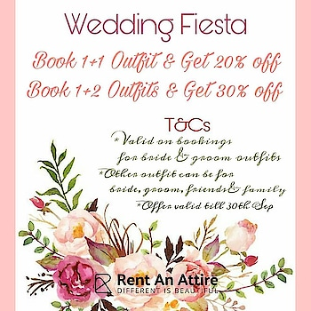 Wedding season is around the corner, let's say hello to some exciting discounts offers for the early birds!! Brides & Grooms to be, take note & start renting with your family & friends.  Log on to www.rentanattire.com or visit us at our stores in Pune, Delhi and Dehradun.  #weddingfiesta #weddingseason #weddings2018 #weddingfashion #weddingbells #weddingphotography #weddingplanners #wedmegood #brideof2018 #bridetobe2018 #rentyourstyle #groomtobe #bridalwear #groomwear #bridaljewellery #indianfashion #bigfatindianwedding #weddingsutra #india #instagram #fashion #fashiononrent #fashionrental #bookingsavailable #whybuywhenyoucanrent