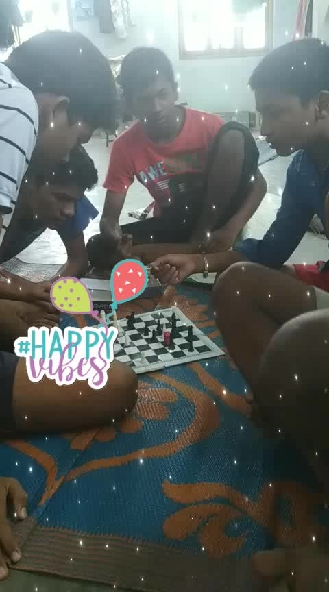 Playing chess in happy mood #happyvibes