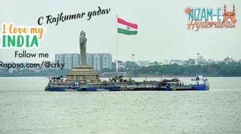 #hyderabad #tankband #buddhastatue #telangana #indianflag #ilovemyindia #roposostar #nizamehyderabad