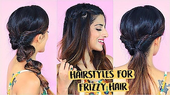 2 Mins Easy Hairstyles For Frizzy Hair Without Heat | Indian Hairstyles | Knot Me Pretty #roposolook #roposolove #soroposolove #soroposo #diy #hair #hairdo #hairstyletips #hairstyleoftheday #haircolour #easytodo #easyhairstyle #quickhairstyles #updo #bun #knotmepretty #indianblogger #indianyoutuber #blogger