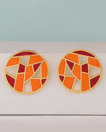 Orange Red Medley Mosaic Earrings Jewel Code: 662008  For more: https://www.voylla.com  Beautiful Collection!!  #earrings #earringscollection #trendyearrings #trendyfashion #mosaiccollection #voylla #voyllajewellery #beautifulearrings #traditionalearrings #indianfashion #indianjewellery #indianjewelry #fashionableearrings #jewlerycollection #onlinejewelry  #online-shopping #online_fashion #onlineseller #onlineearrings
