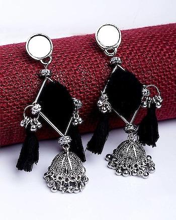 Black Tassel Oxidized Jhumka Earrings with Ghungroos Jewel Code: 680064  Visit: https://www.voylla.com  #oxidized #oxidizedjewelry #oxidizedsilver #earrrings #earringsoftheday #earringlove  #silver #silverjewellery #newcollection2018 #newearrings #voylla #voyllacelebration #jhumkas #jhumkalove #indianjewellery #indianjewelry #fashionableearrings #jewlerycollection #onlinejewelry  #online-shopping #online_fashion #onlineseller #onlineearrings #jhumkaearrings