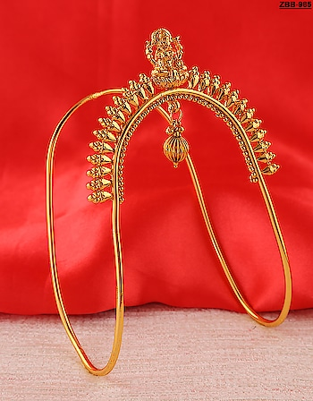 Anuradha Art Jewellery Present Artistically Crafted Gold Tone Styled Designer Arm Bracelets Bajuband jewellery at the best price. These designer Arm Bracelets are made up of gold polish metal and have droplet that gives an extra attraction to it. We are giving free shipping all over India. So Order it Now. To see more design click on the above link: http://bit.ly/2OlQUeZ  #bajuband #armlet #armbarcelet #armband #bazuband #vaanki #vaki #maharashtrianvaanki #maharashtrianjewellery #latestbajubandonline #armcuff #armjewellery #imitationjewellery #bajubadonline #bajubandh #bajubandonline #bajoband #maharashtrianbajuband #artificialjewellery #artificialbajuband #fashionjewellery #wakifashionbajuband #latestfashion #weddingjewellery #bridalbajuband #bridaljewellery