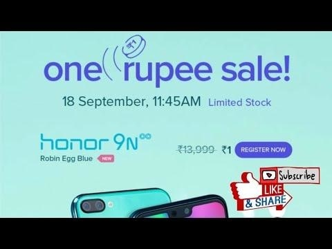 #Win Honor 9N at RS.1 | 18 September 2018 , One Rupee Sale , #Giveaway App in Description