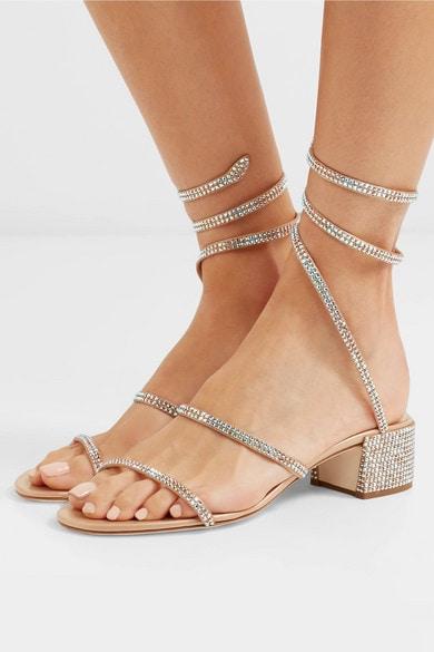 Cleo crystal-embellished sandals ;)) Buy @ comment link >>>