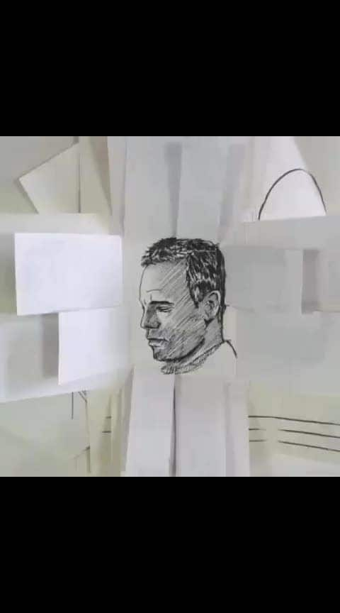 Creative Hand drawn animation... #roposo-creative #creative #amazing #wow #mindblowing