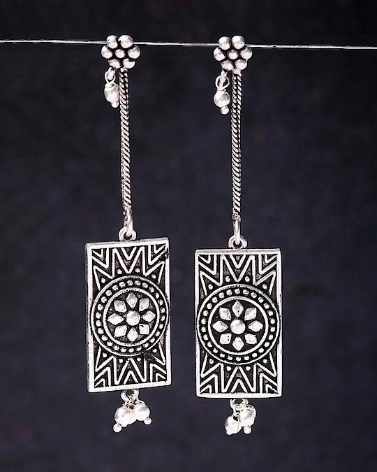 Leela Oxidized-Textured Danglers Jewel Code: 682860  For more, visit: https://www.voylla.com/  #oxidizedjewelry #oxidizedearrings #danglers #danglerearrings #onlineearrings #onlinedanglers #womendanglers #indiantradition #indiantraditionawear #onlinejewelry #onlinejewellery #onlineshopping #womenshopping #womenjewellery #womenjewelry #womenjewelleries #indianjewellery #indianjewelry #festivefashion #festiveseason #festivewear #silverearings #silverplated #silverplatedjewelry