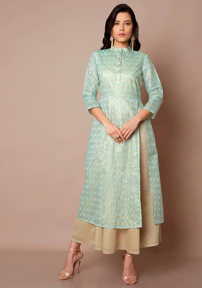 You can't ever go wrong with a touch of alluring oceanic tones and this 🔍 Powder blue Slit Kurti with attached skirt is just what you need to wear to a shimmer showered evening with your closed ones. Get it here:  https://goo.gl/53xX6L  #fashion #lookbook #womenwear #ethnic #bestdeals #buy #outfit #fashionupdate #ootd #wiw #bestdresses #bespoke #bridesmaids #bride #wedding #sangeet #asianbride #indianwedding #marraige