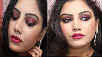Pink Glitter Eye For Party Makeup Look #eyemakeuplook #eyemakeup #eyemakeuptutorial #eyemakeuptips #pinkeyemakeup #glittereyemakeup #glittereyes #pinkeyes #eyeshadow #eyeshadowtutorial #makeup #partymakeup #partymakeuplook #partymakeuptutorial