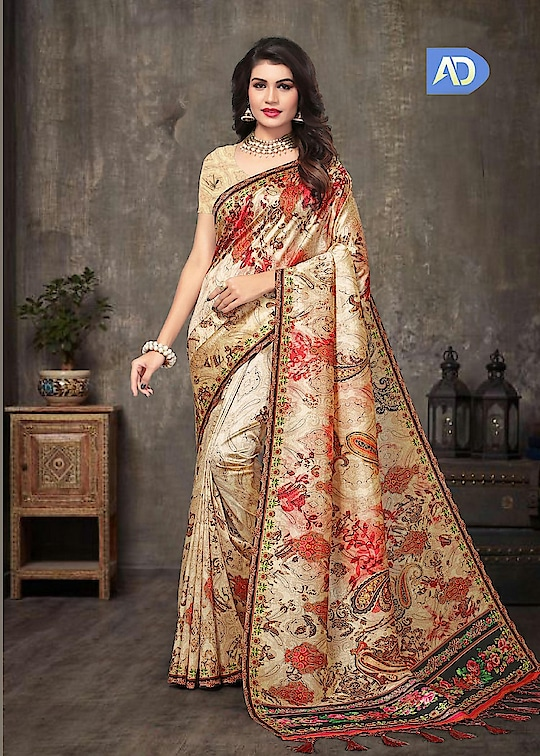 Fabric :- Silk Work :- Digital Print  Buy Now :- https://tinyurl.com/y827tn3b  Whats App :- +91 7621863000  #saree #partywear #designer #casualwear #sarees #indianwear