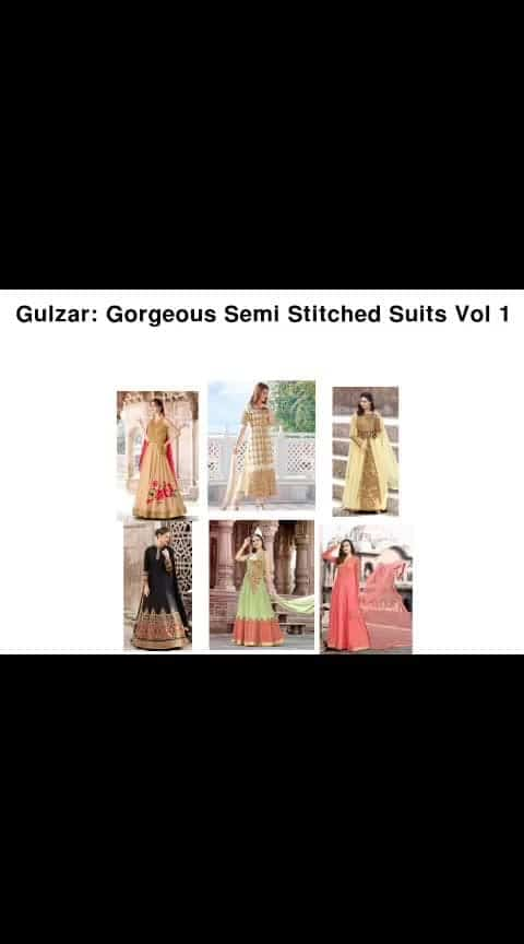 Gorgeous Semi Stitched Suits - - #fashion #style #stylish #love #photography #instapic #me #cute #photooftheday #nails #hair #beauty #beautiful #instagood #pretty #swag #pink #girl #eyes #design #model #dress #shoes #heels #styles #outfit #purse #jewelry #shopping