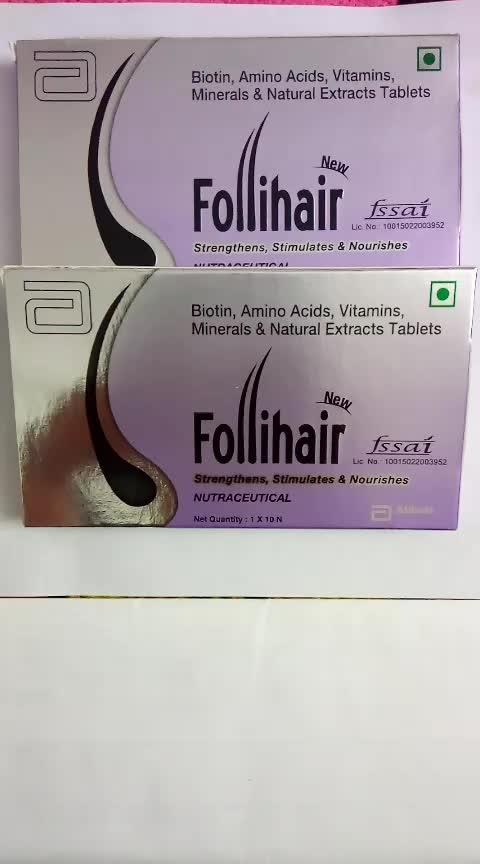 For Hair fall use Follihair Tablet Contain Biotin, Amino Acids, Vitamins, Minerals & Natural Extracts  #hairfall #hairfallcontrol #hairfallcontrol #lookgoodfeelgoodchannel #lookgoodfeelgood #trendingonroposo #trendingnow #followusonroposo #followme
