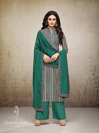 Designer Muslin Digital Printed Palazzo Salwar Suit Wholesale Catalog  Price per Piece :- ₹939 + ₹47 (GST 5%)  Total Design :- 12 Pcs  Top :- Muslin Digital Print  Bottom :- Muslin  Dupatta :- Muslin Digital Print  Work :- Digital Printed  Product link :- https://castillofab.com/indian-wholesale-designer-muslin-salwar-suits-supplier  --------------------------------------------------------  Call/whatsapp :- +91 8530 23 23 30  Visit our website :- www.castillofab.com  --------------------------------------------------------  #salwarsuits #wholesale #latestsuits #salwarkameez #international #designersalwar #newlaunch #brandedsalwarsuits #suratcollection #indianstyle #weddingwear #bestrate #salwarsuitdesignes #salwarsuitmanufacturer #palazzo #cottonsuits #castillofab