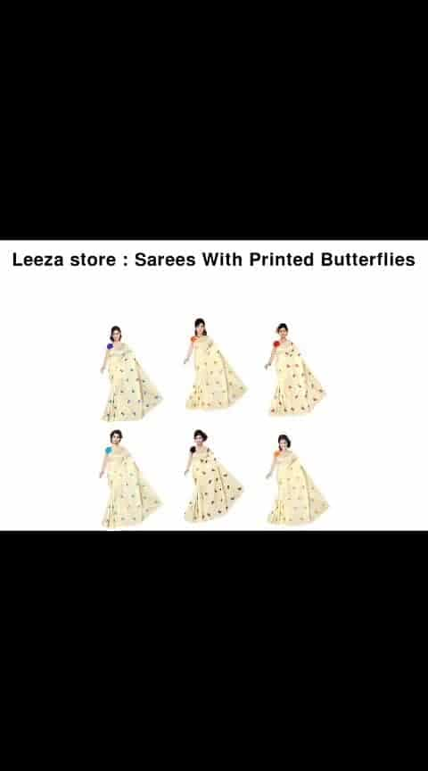 Sarees With Printed Butterflies - - #fashion #style #stylish #love #photography #instapic #me #cute #photooftheday #nails #hair #beauty #beautiful #instagood #pretty #swag #pink #girl #eyes #design #model #dress #shoes #heels #styles #outfit #purse #jewelry #shopping