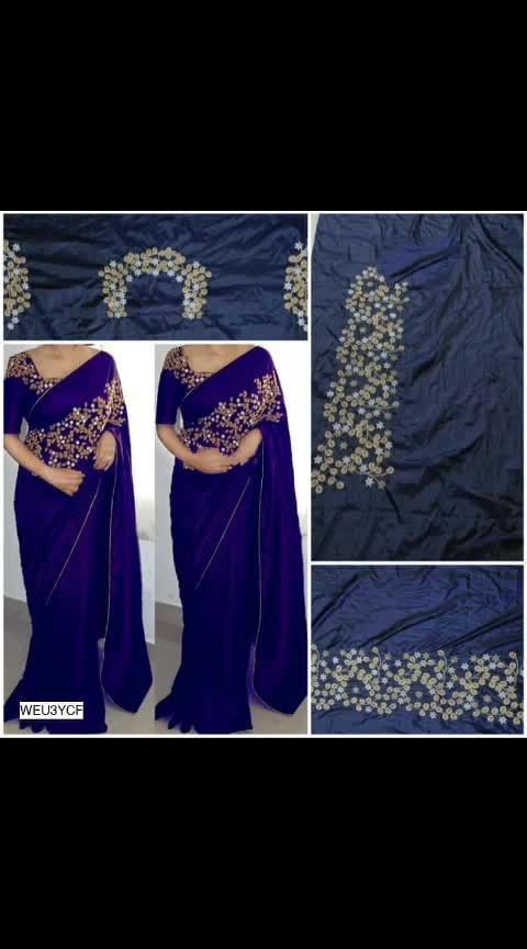 #ajmer  #rajasthan  #rajasthandiaries  #saree  #onlineshopping  #sareeonline   WhatsApp@7014281862    👩Gorgeous Embroidered Sarees💃  Size: Saree- 5.5 mts Blouse Piece- 80cms👌  Material: Art Silk 🔥  Style Tip: Pair these with a chandbali, clutch and high heels for the perfect party look. 💣😍🔥