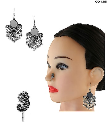 Special Combo Offer! Get combo pack of Oxidised Earrings & Oxidised Nose Pins in just Rs.200. To see more designs click on this link: http://bit.ly/2OLl7nT #earrings #nosepin #nosepincombo #earringscombo #earringsnosepincombo #combooffer #sale #oxidisedearrings #oxidisednosepin #oxidisedjewellery #germansilverearrings #germansilverjewellery #germansilvernosepins #junkjewellery #tribaljewellery #navratrijewellery #anuradhaartjewellery #jewellery #jewelry