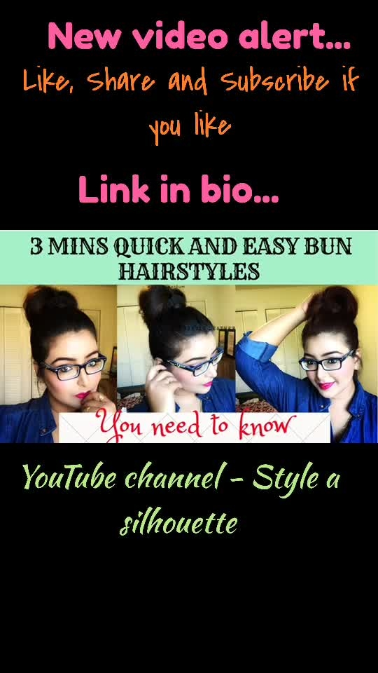 3 mins quick and easy bun hairstyle ideas  . #Newvideoalert #hairtutorial #newyoutuber #youtuber #fashionblogger #indianfashionblogger #mumbaifashionblogger #indianyoutuber #fblogger #styleasilhouette #like #share #subscribe #subscribetomychannel #howtostyle #blogger #bloggerbabe #mumbaiblogger #ootdblogger #instadaily #lookbook #lookbookvideo #mumbai
