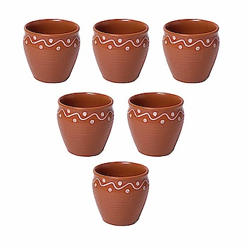 Kraftmania Re-Useable Ceramic Kullad for Hot & Cold Beverages - Set of 6  Here are some kullad and cups of low price from the house of Kraftmania.  #natural #kullad #cups #mug    https://www.amazon.in/dp/B07H58ZX9G
