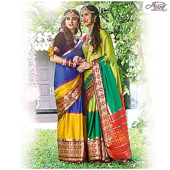 This wedding season embrace the beauty of colors that showcase every inch of your vibrancy.  Shop now >> http://bit.ly/2Nw5SSF  #aurasarees  #saree #wedding #designersaree  #indianwear
