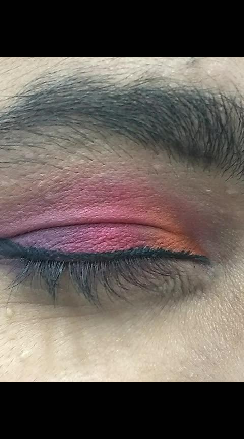 Analogous Eye Makeup ❤️ #roposo #roposostars #eyemakeup #lookgoodfeelgood #lookgoodfeelgoodchannel #makeup #makeuptutorial