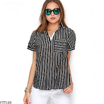 #newarrivals #tshirt #girls  #westernwear #black-white-striped  #casuallook  #formalwear #cotton  #knitted tops #girlysh #slimfit  #limitedstock  #capsleeves  #sleveless  #stripes  #todaydeal  #weekendmood  #waistlength  #weekend  #roposo-vibes  #morning vibes