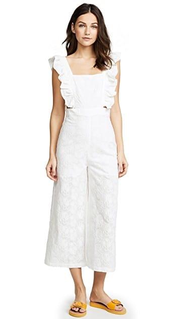 Ruffled Celeb Jumpsuit... Buy @ comment link >>> #celeb #designerinfocus #designerinspired #be-fashionable #fashionforwomen