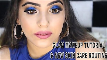 waatch my new Videooooo😍😍😍😍  GLAM MAKREUP TUTORIAL | MY NEW SKIN CARE ROUTINE | BLUE GLITTER SMOKEY EYES    #makeuponpoint#makeup#eye-makeup #ropo-makeup #smokey-eyes #youtuber #youtubechannel #makeuptutorial #how-to #smokeyeyemakeup