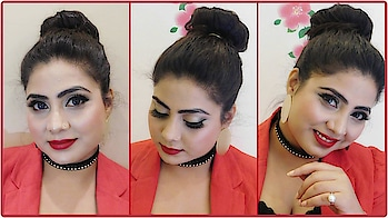 Glamorous Makeup Tutorial For Beginners #makeup #redlipstick#classy#partymakeup