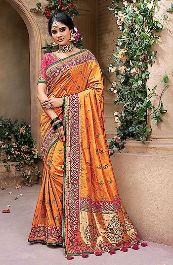 BANARASI SAREE @ INDIWEAR  Women who want to have traditional yet stylish looks choose Banarasi Saree   Buy Banarasi Sarees online on Indiwear.com https://www.indiwear.com/saree/brands/mn-sarees.html  #indiwear #mn #mnsarees #sareebrand #indiwear #ethnicwear #saree #onlineshopping #festivesaree #diwalisaree #dussehra #diwali #tradition #banarasisaree #indian #fashion#orange#orangecolour