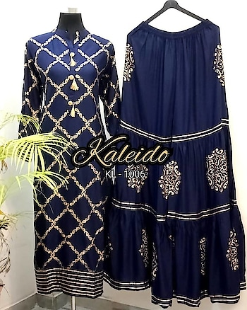 BLUE GOLDEN DESIGNER SHARAR KURTI. . PRICE - 2800 /- ₹. (FREE CASH ON DELIVERY AVAILABLE ) . FABRIC DETAILS :- . .  Rayon Sharar Kurti. Full Sticted. Size 36 to 44. . . TO ORDER DM OR WHATSAPP ON +91-8511343450. . #traditionalwear #lehnegacholi #embroidery #tapetasilk #banglorisilk #fashions #ethnic #indiacoutour #bridal #closet #ootd #partywear #ootd #fashion #trending #ethnicwear #Georgette #indowestern #chanderisilk #tamannabhatia #blackoutfit #indianfashionblogger #outfit #plazo #fashiondesigner #boutique #bollywoodfashion #salwarkameez #onlineshopping #cashondelivery