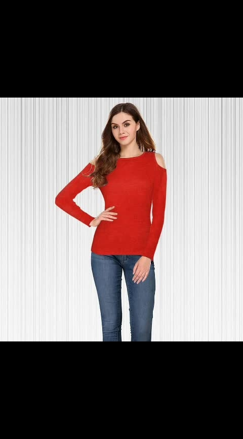 👇 Trendy T-shirts👇	  SKU: Tipsy 21 Fabric: Knitting Neck: Round Sleeve: Off Shoulder,                Full Sleeve Length: 24.5 inch Available Size: S, M, L, XL, XXL     GST 5% exclude Ask for Real Pics.  #ajmer #jaipurdiaries #rajasthan #women-branded-shopping #womens_fashion #online_fashion #onlinestores #onlineshoppingindia #online_fashion #tshirtlover #womenstshirt